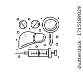 group of doodle outline medical ... | Shutterstock .eps vector #1715189029