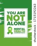 mental health awareness month... | Shutterstock .eps vector #1715192263