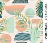hand drawn seamless pattern in... | Shutterstock .eps vector #1715193856