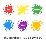 vector set of colored blots on... | Shutterstock .eps vector #1715194510