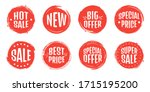 set of sale tag tags. grunge... | Shutterstock .eps vector #1715195200