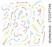 arrows colorful vector. set of... | Shutterstock .eps vector #1715197246