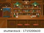 cowboy interior wild west...   Shutterstock .eps vector #1715200633