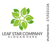 leaf and star. negative space...   Shutterstock .eps vector #1715221126