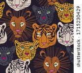 seamless pattern with animal... | Shutterstock .eps vector #1715230429