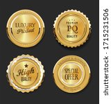 collection of golden badges and ... | Shutterstock . vector #1715231506