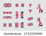 united kingdom british flag... | Shutterstock .eps vector #1715235040