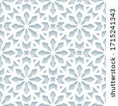 cutout paper pattern  seamless... | Shutterstock .eps vector #1715241343