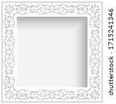 square white frame with ornate...   Shutterstock .eps vector #1715241346