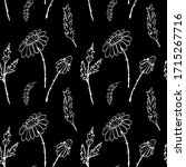 seamless pattern with ink hand... | Shutterstock . vector #1715267716