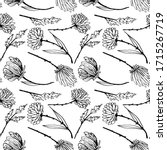 seamless pattern with ink hand... | Shutterstock . vector #1715267719