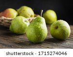 Sweet Green Pears On The Woobe...
