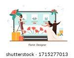 event florist designer online... | Shutterstock .eps vector #1715277013