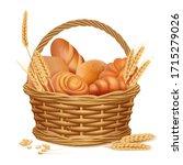 Bakery Basket. Fresh Sweet...