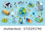 ecological ecosystem and... | Shutterstock .eps vector #1715291740