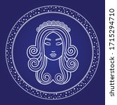 virgo astrology horoscope in... | Shutterstock .eps vector #1715294710