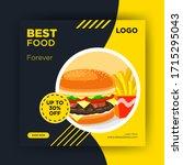 modern corporate creative... | Shutterstock .eps vector #1715295043