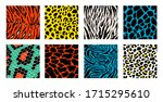 animal skin background pattern... | Shutterstock .eps vector #1715295610