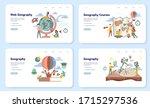 geography web banner or landing ... | Shutterstock .eps vector #1715297536