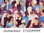people talking diversity.... | Shutterstock . vector #1715299999
