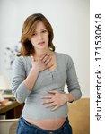 asthma pregnant woman | Shutterstock . vector #171530618