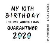 my birthday 2020 happy... | Shutterstock . vector #1715314366