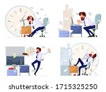 big vector set with highlights... | Shutterstock .eps vector #1715325250