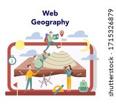 geography online education... | Shutterstock .eps vector #1715326879