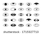 set of outline eye icons.... | Shutterstock .eps vector #1715327713