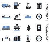 oil industry icons. two tone... | Shutterstock .eps vector #1715334529