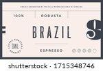 minimal label. typographic... | Shutterstock .eps vector #1715348746