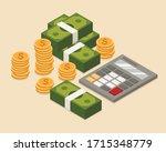 flat isometric illustration of ... | Shutterstock .eps vector #1715348779