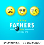 happy father's day banner with... | Shutterstock .eps vector #1715350000