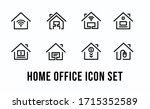 home office vector icon set.... | Shutterstock .eps vector #1715352589