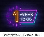 one week to go neon sign on...   Shutterstock .eps vector #1715352820