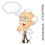 professor thinking with white... | Shutterstock .eps vector #171537944
