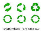 recycle icon. recycle vector... | Shutterstock .eps vector #1715381569