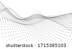 abstract dynamic wave of... | Shutterstock .eps vector #1715385103