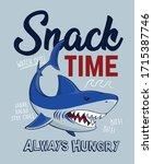 snack time. shark attack.... | Shutterstock .eps vector #1715387746