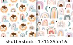 seamless pattern set with... | Shutterstock .eps vector #1715395516