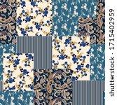 seamless patchwork flower... | Shutterstock .eps vector #1715402959