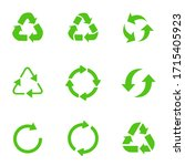 recycling symbol of... | Shutterstock .eps vector #1715405923