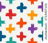 paint brush strokes seamless... | Shutterstock .eps vector #1715407153