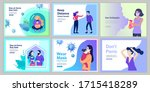 stay at home  wear mask ... | Shutterstock .eps vector #1715418289