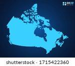 vector blue map of canada | Shutterstock .eps vector #1715422360