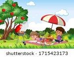scene with happy children in...   Shutterstock .eps vector #1715423173