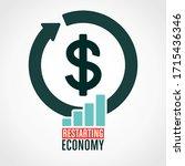 restarting economy illustration ... | Shutterstock .eps vector #1715436346