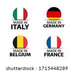 set of four italian  german ... | Shutterstock .eps vector #1715448289