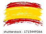 spanish flag in grunge brush...   Shutterstock .eps vector #1715449366