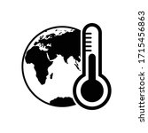 globe icon global temperature   ... | Shutterstock .eps vector #1715456863